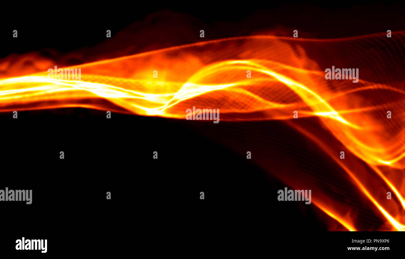 Abstract Red Smoke Fire Over Black Background Wavy Elegant Backdrop For Your Design And Art Stock Photo Alamy