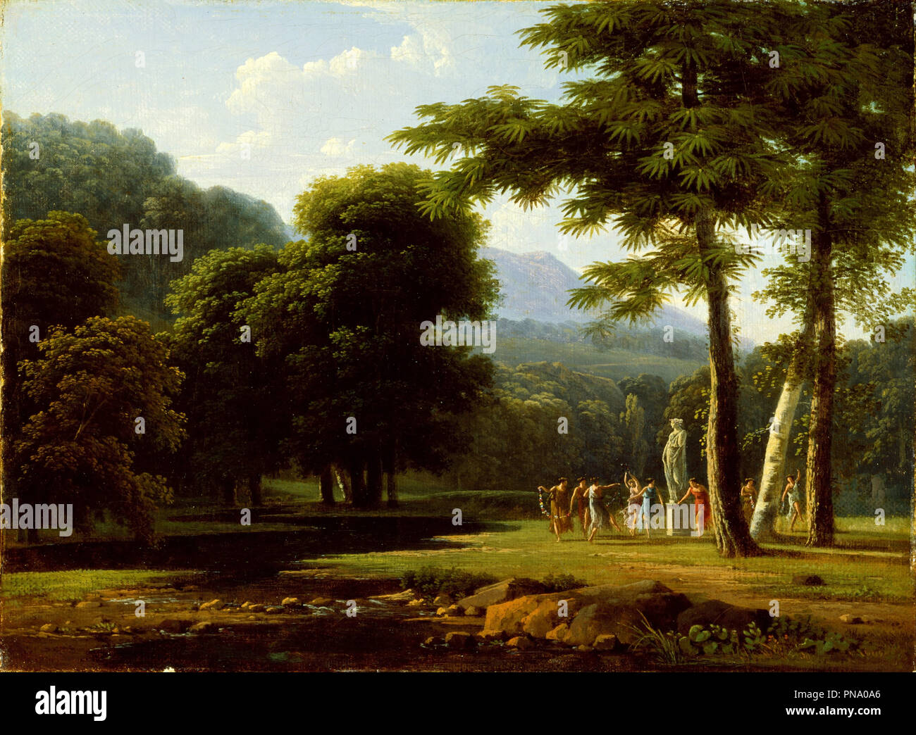 Landscape. Date/Period: 1804. Oil paintings. Oil on canvas. Author: BERTIN, JEAN VICTOR. Stock Photo
