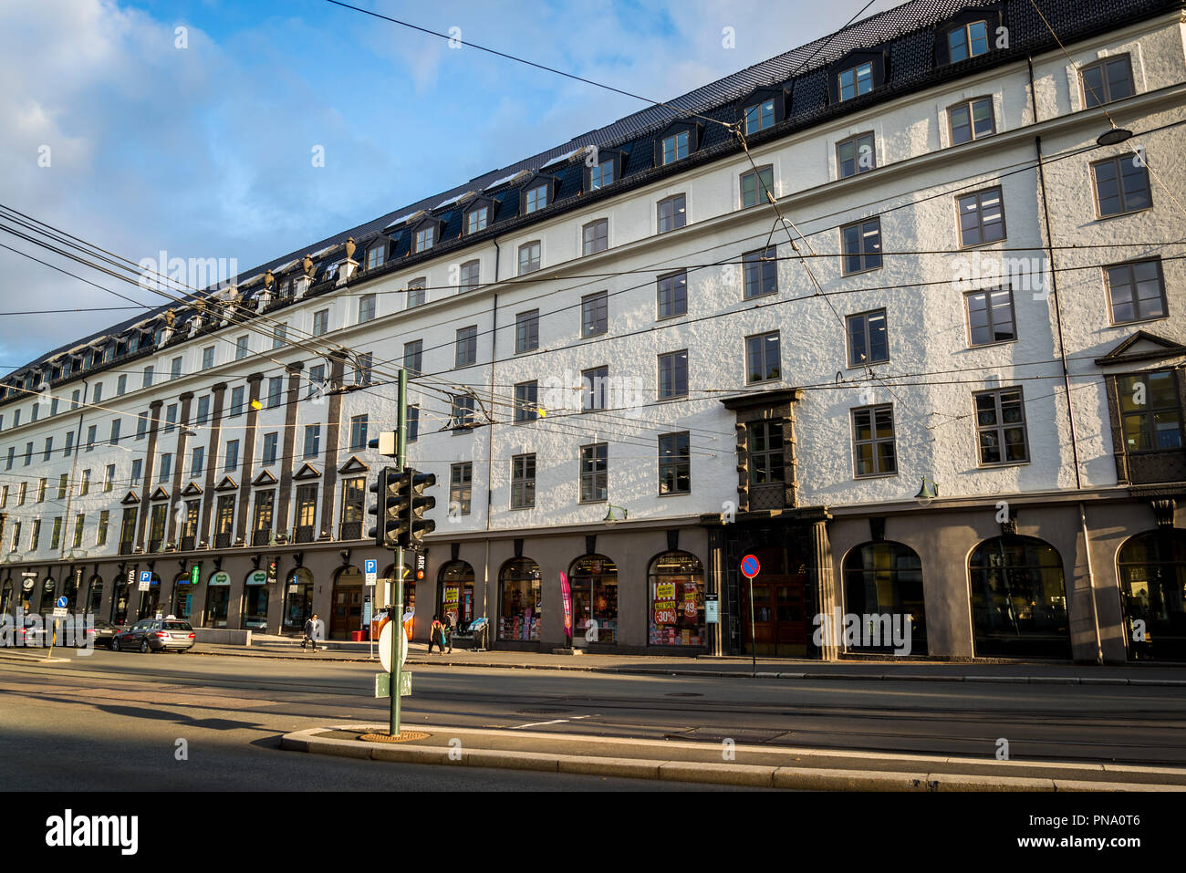 Buildings in central Oslo, Norway - Stock Image