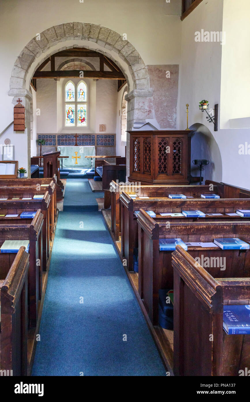 Traditional Wooden Pews And Interior View In Small Wisley Church In The Village Of Wisley Surrey Uk Which Dates Back To Norman Times In About 1150 Stock Photo Alamy,Kelly Wearstler Kitchen Design