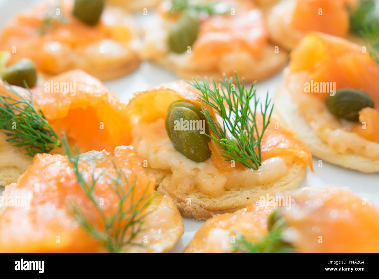seafood salmon cocktail for lunch - Stock Image
