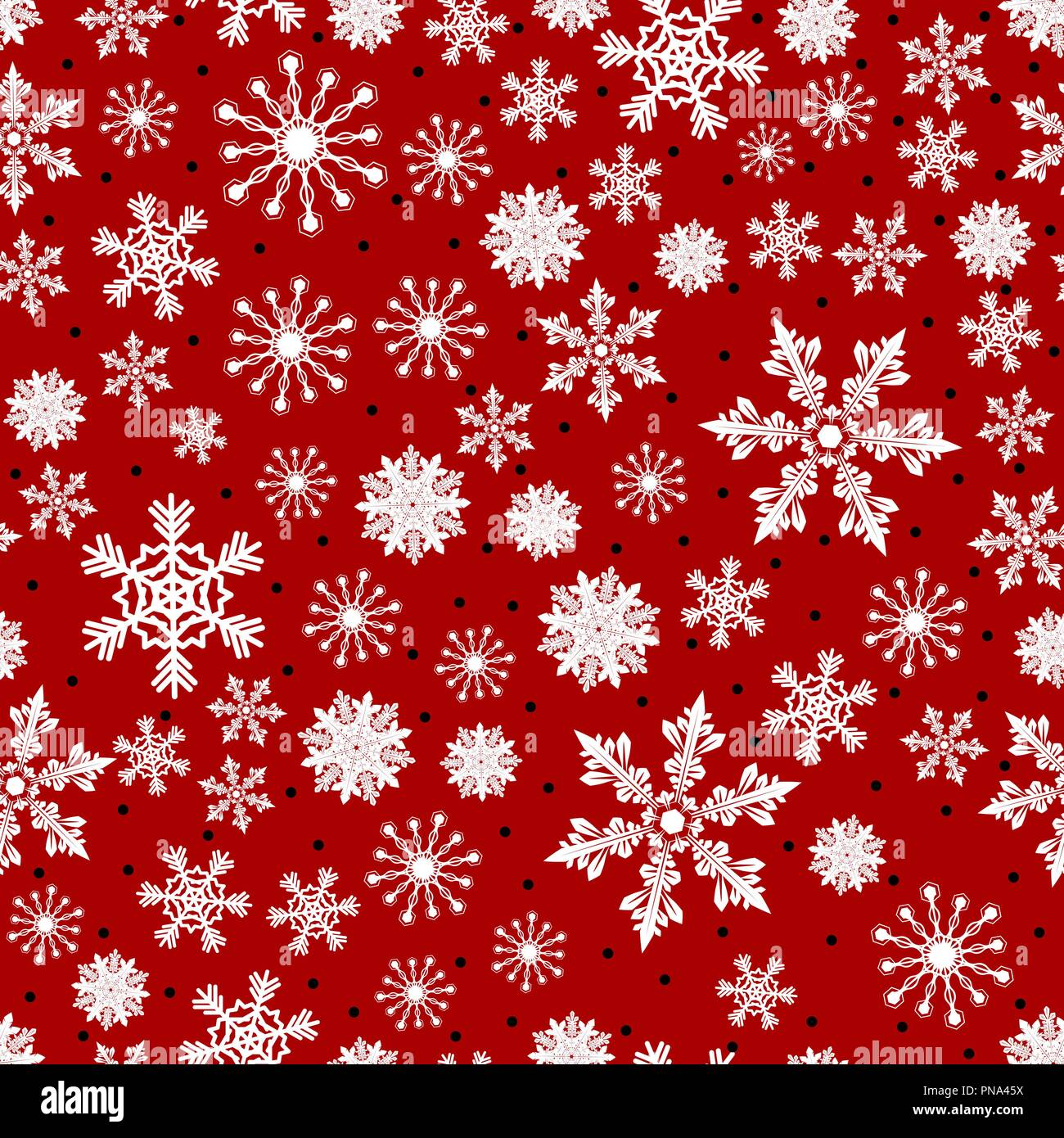 Christmas Pattern.Christmas Pattern Made Of Snowflakes And Dots Vector Winter