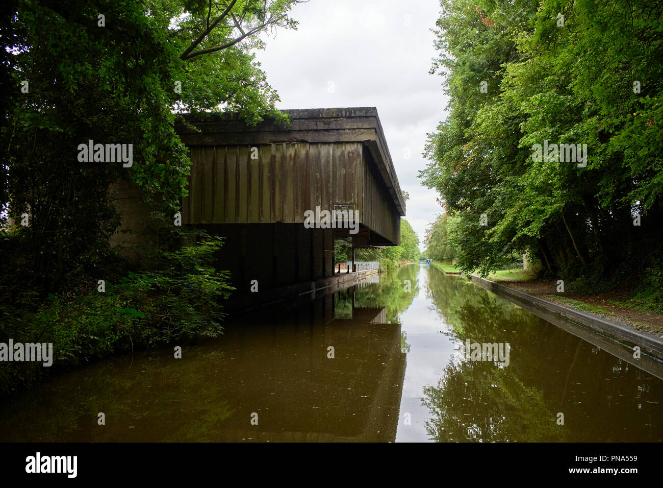 Cadbury Wharf at Knighton on the Shropshire Union Canal where chocolate crumb was produced before being transported by canal boat to Bournville - Stock Image