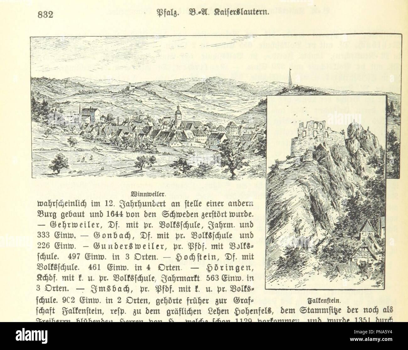 Image  from page 848 of 'Geographisch-historisches Handbuch von Bayern' . - Stock Image