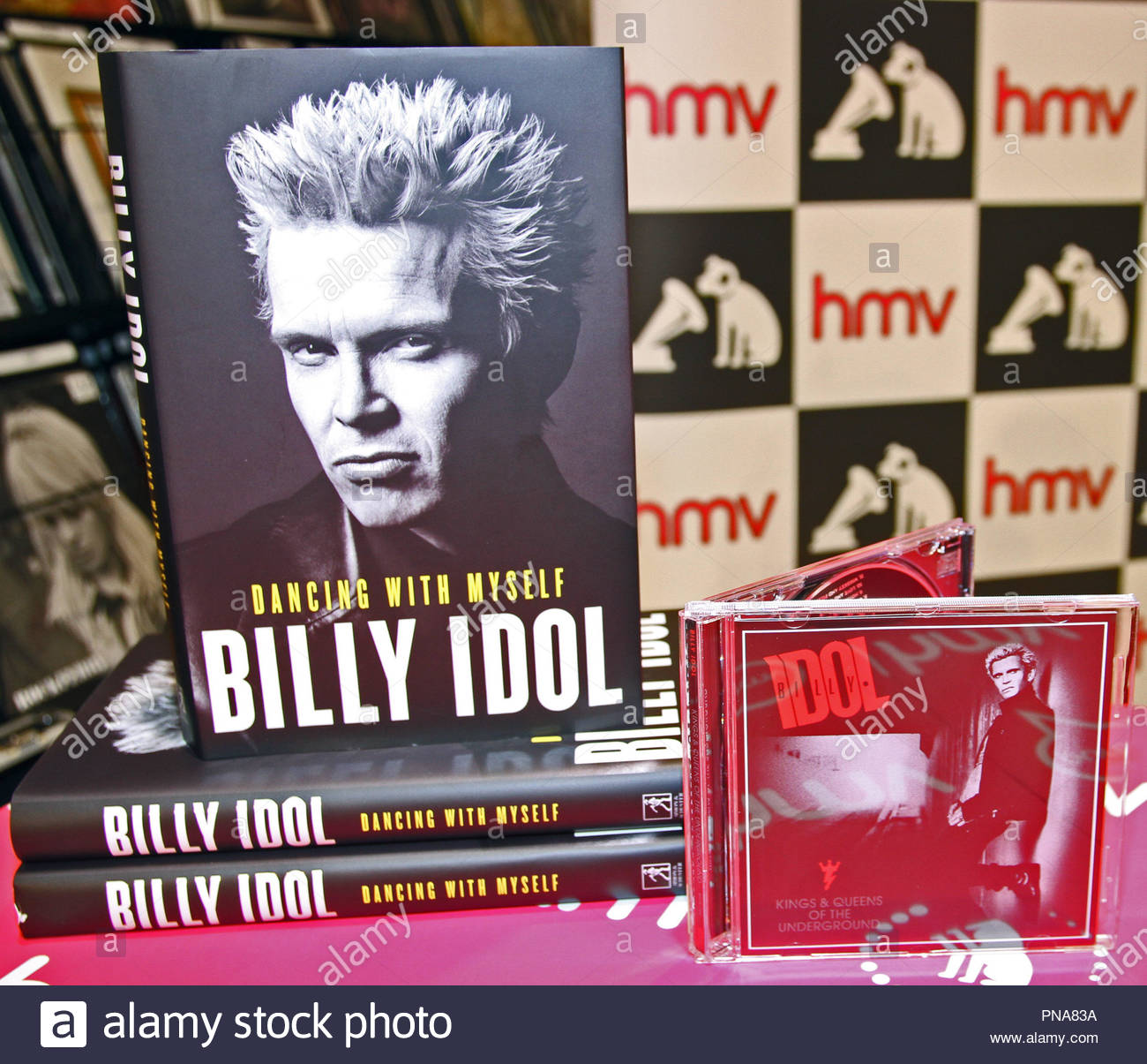 Billy Idol signing copies of his new autobiography 'Dancing