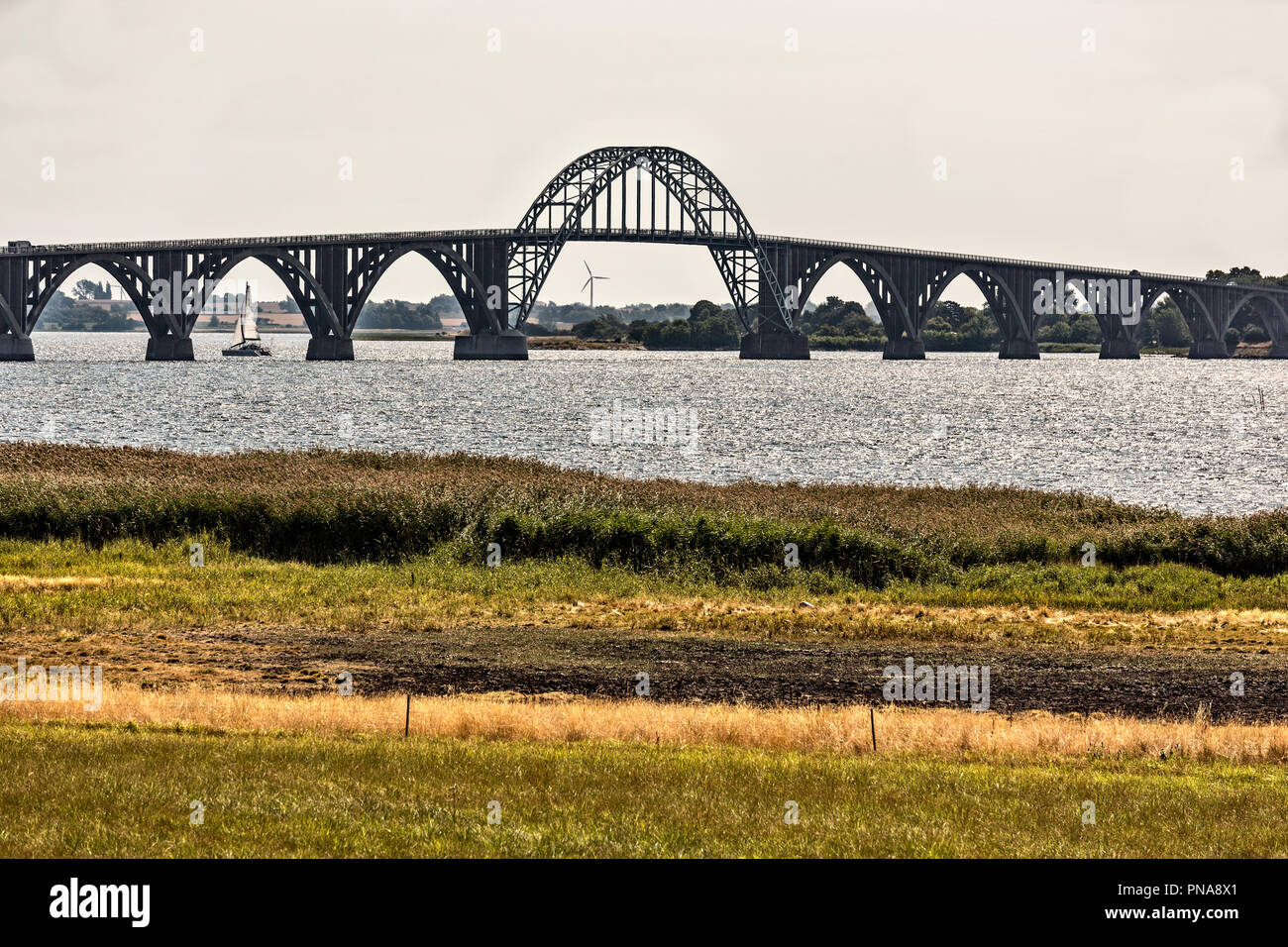 the Queen Alexandrina bridge - Stock Image