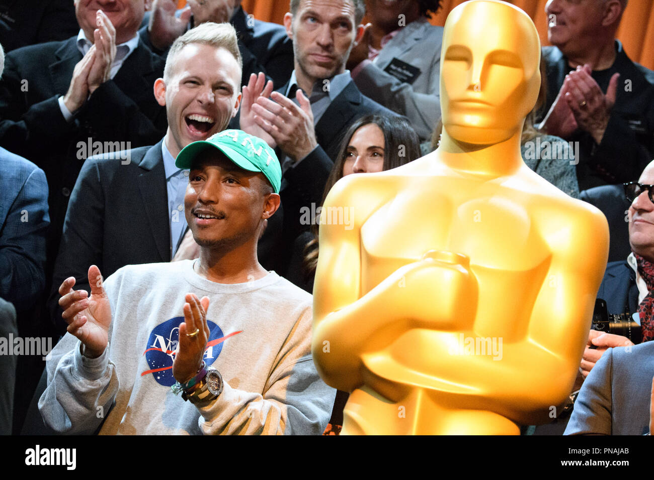 Pharrell Williams at the Oscar® Nominees Luncheon in Beverly Hills Monday, February 6, 2017. The 89th Oscars® will air on Sunday, February 26, live on ABC.  File Reference # 33227_021THA  For Editorial Use Only -  All Rights Reserved - Stock Image