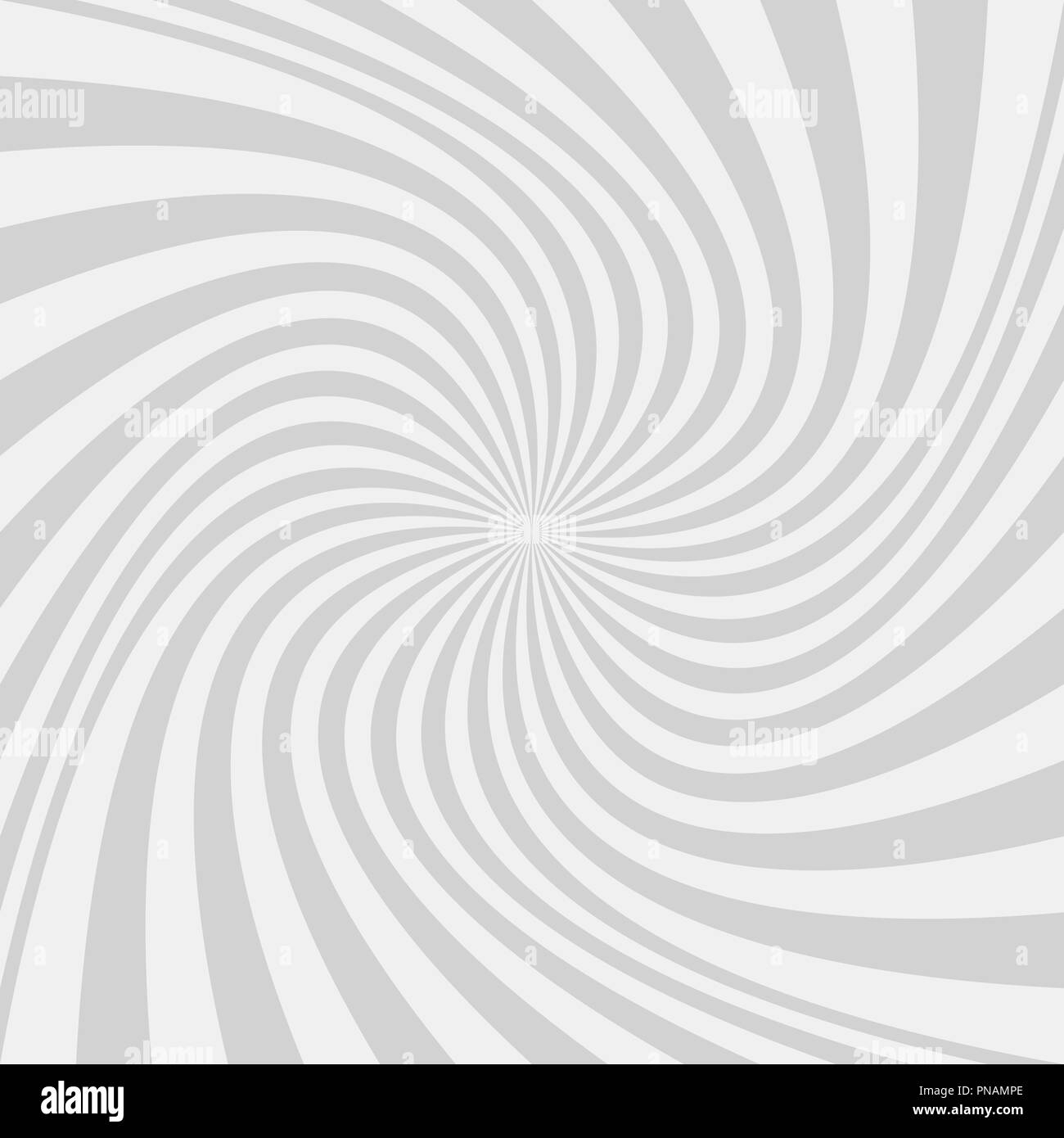 Light grey abstract spiral design background - vector design from twisted rays - Stock Image