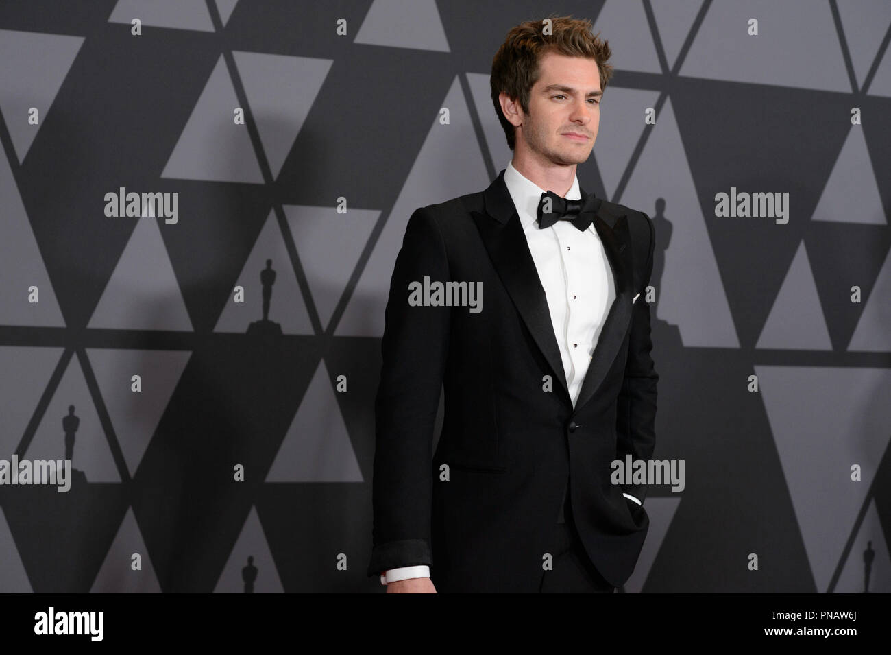 Andrew Garfield attends the Academy's 2017 Annual Governors Awards in The Ray Dolby Ballroom at Hollywood & Highland Center® in Hollywood, CA, on Saturday, November 11, 2017.  File Reference # 33474_028THA  For Editorial Use Only -  All Rights Reserved - Stock Image