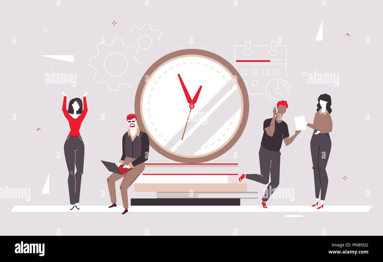 Deadline - modern flat design style colorful illustration Stock Vector