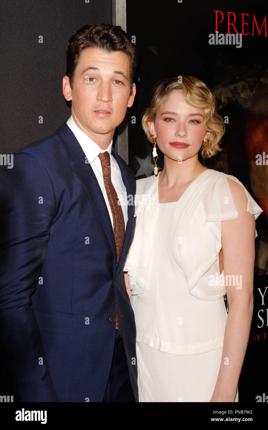 Miles Teller Haley Bennett At The Premiere Of Dreamworks Pictures And Universal Pictures Thank You For