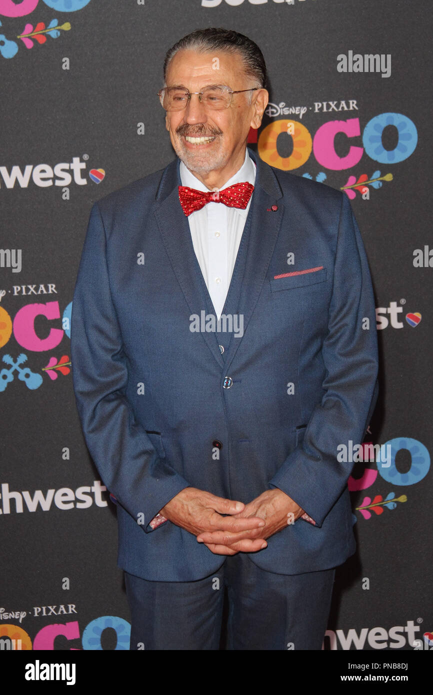 Alfonso Arau at the Premiere of Disney/Pixars 'Coco' held at El Capitan Theatre in Hollywood, CA, November 8, 2017. Photo by Joseph Martinez / PictureLux - Stock Image