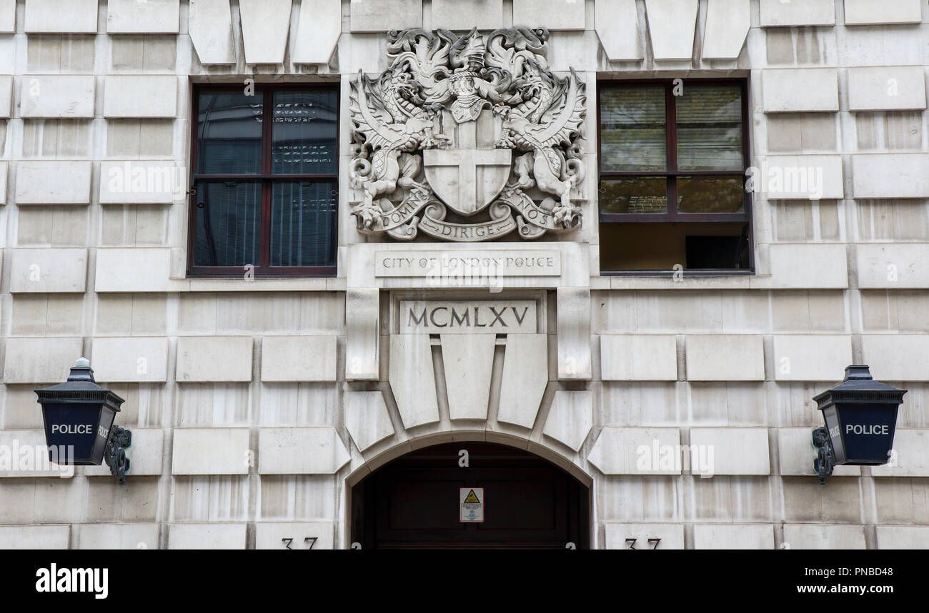 City Of London Special Constabulary Building, Wood Street, London, England, UK - Stock Image