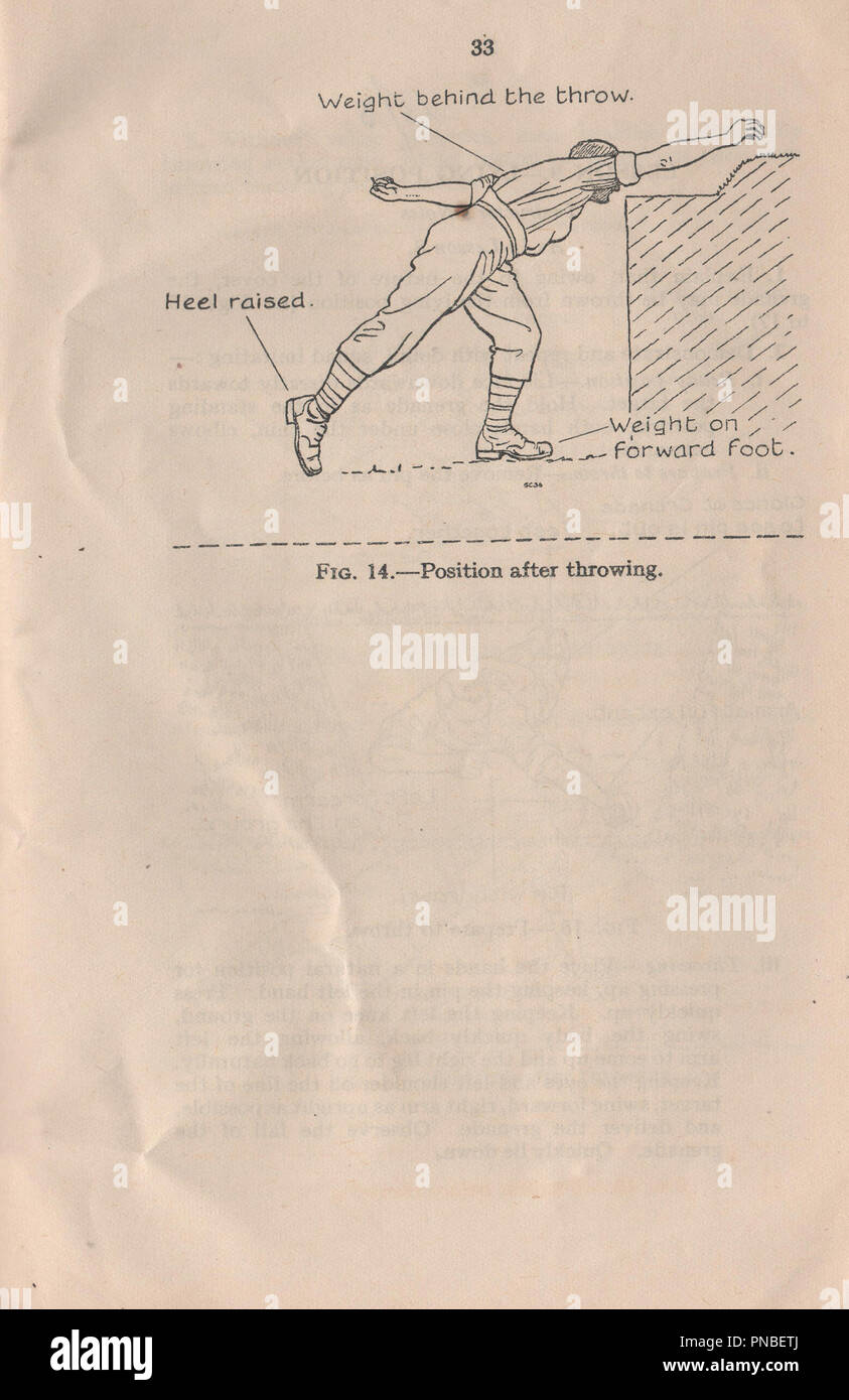 Small Arms Training Manual volume 1 pamphlet number 13 Grenade or Mills bomb published in 1937 to provide instruction to British military personnel on how to use the hand grenade during the pre-war period and World War Two - Stock Image