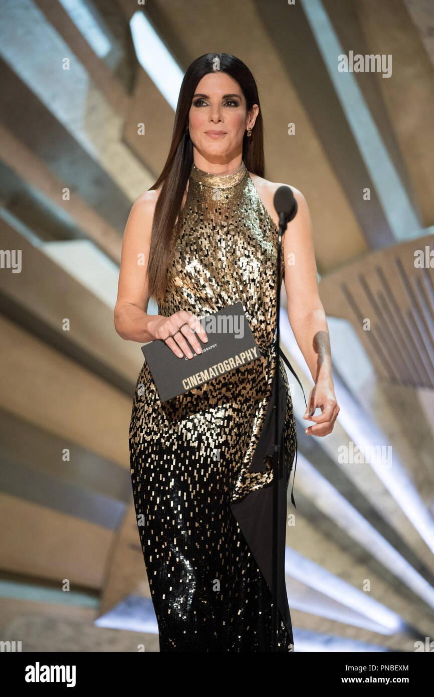 Sandra Bullock presents the Oscar® for achievement in
