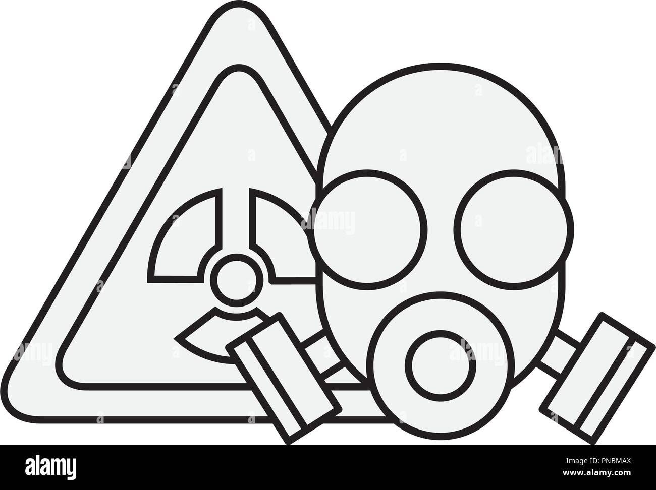 respirator mask protection danger radiation - Stock Image