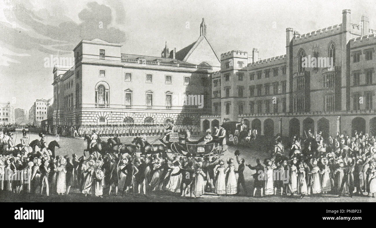 The Old House of lords, before the fire of 1834 Stock Photo