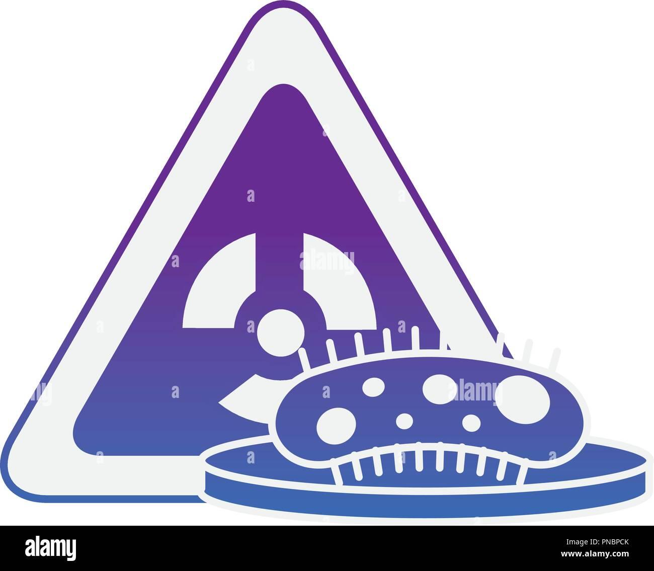 bacteria science hazard radiation danger - Stock Image