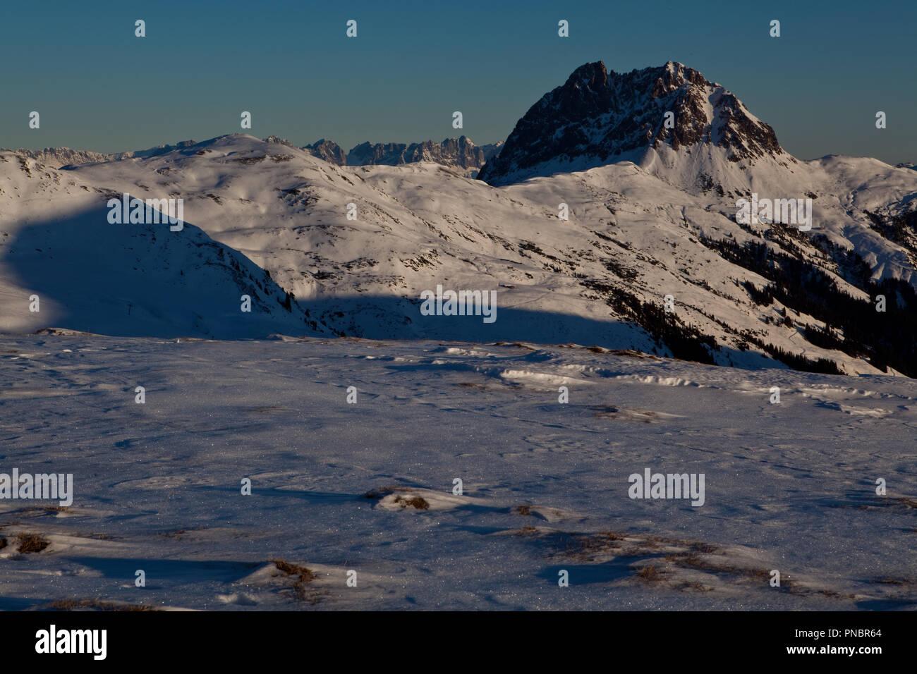 Wildkogel am Morgen - Stock Image