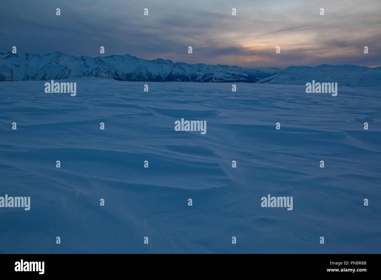 Snow field - Stock Image