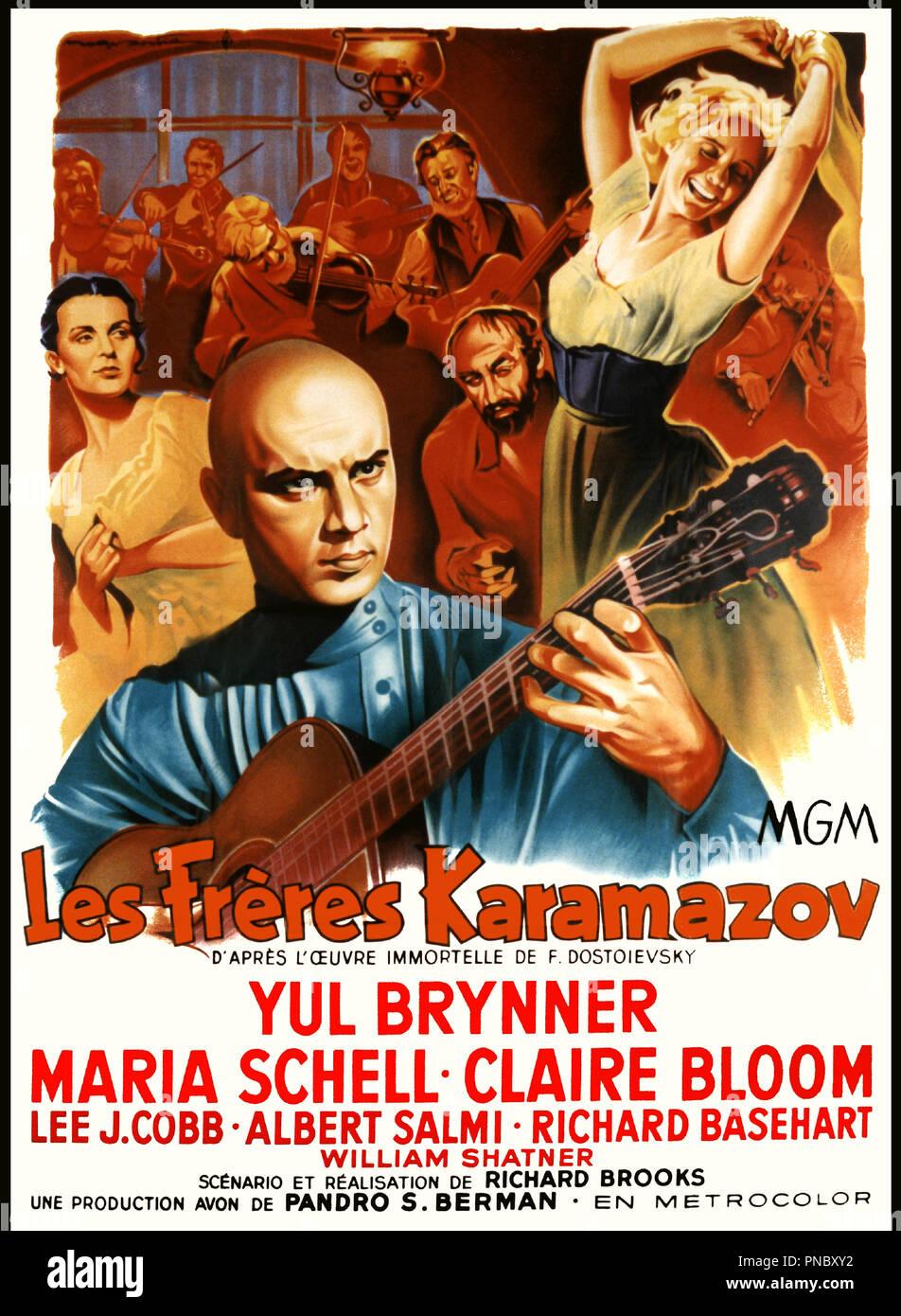 Prod DB © MGM / DR LES FRéRES KARAMAZOV (THE BROTHERS KARAMAZOV) de Richard Brooks 1958 USA d'aprs le roman de Feodor Dosto•evsky affiche - Stock Image