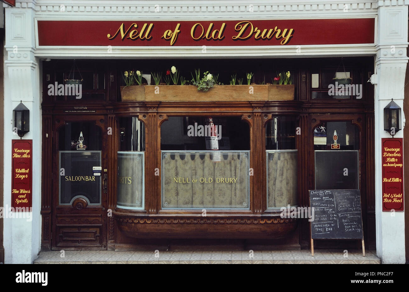Nell of Old Drury pub, London, England, UK. Circa 1980's - Stock Image