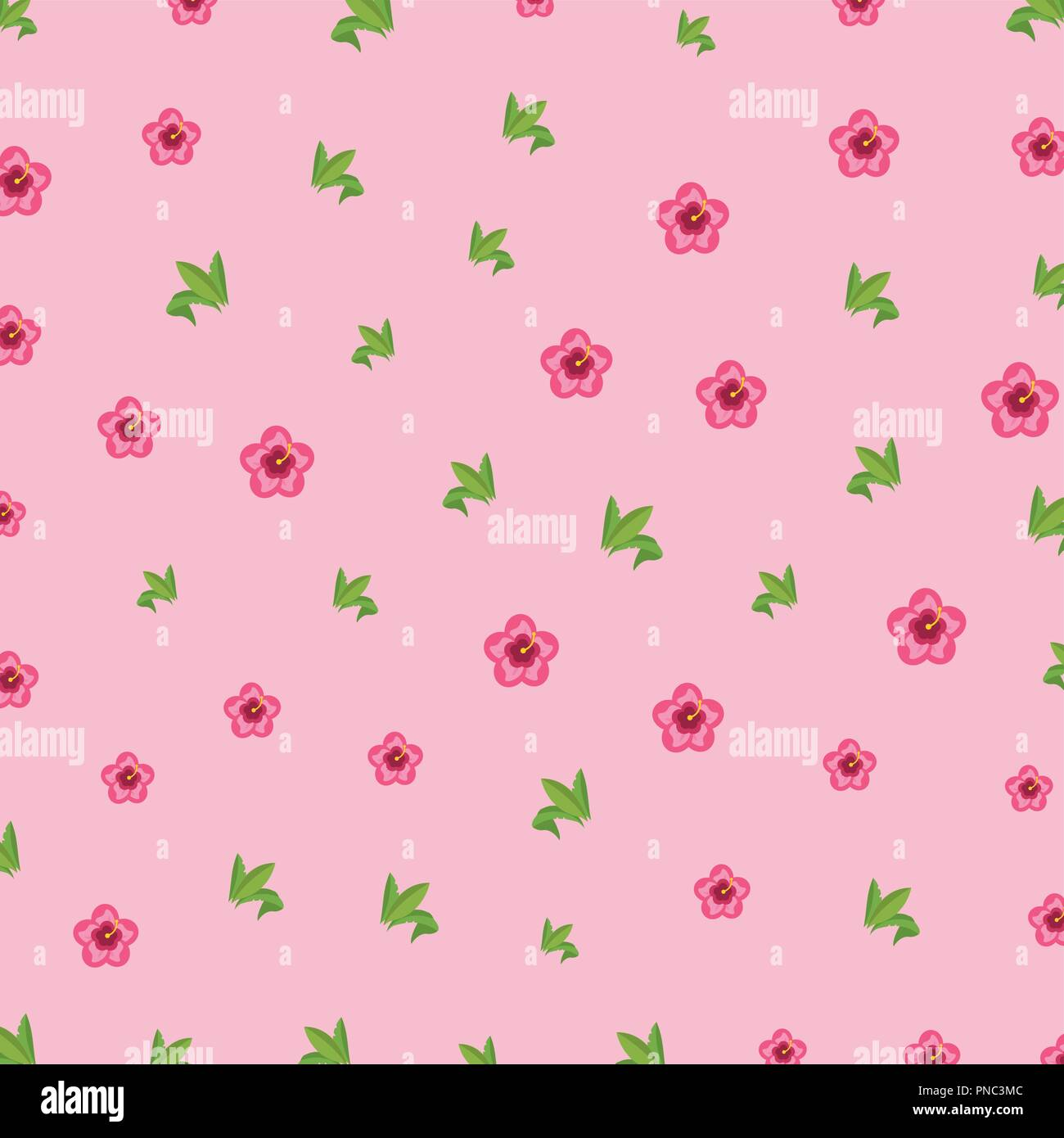Floral pattern background - Stock Image