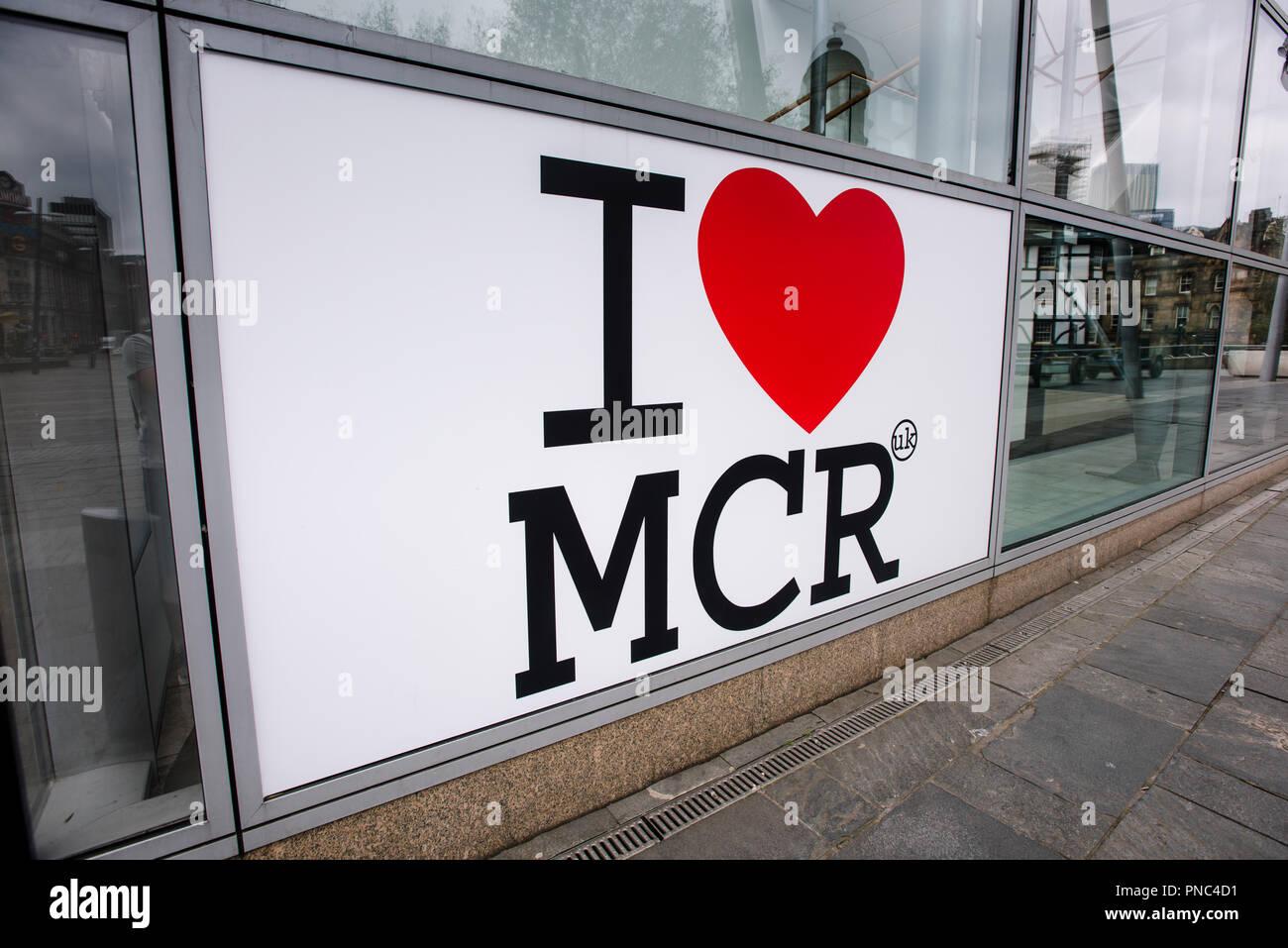 I LOVE MCR - Stock Image