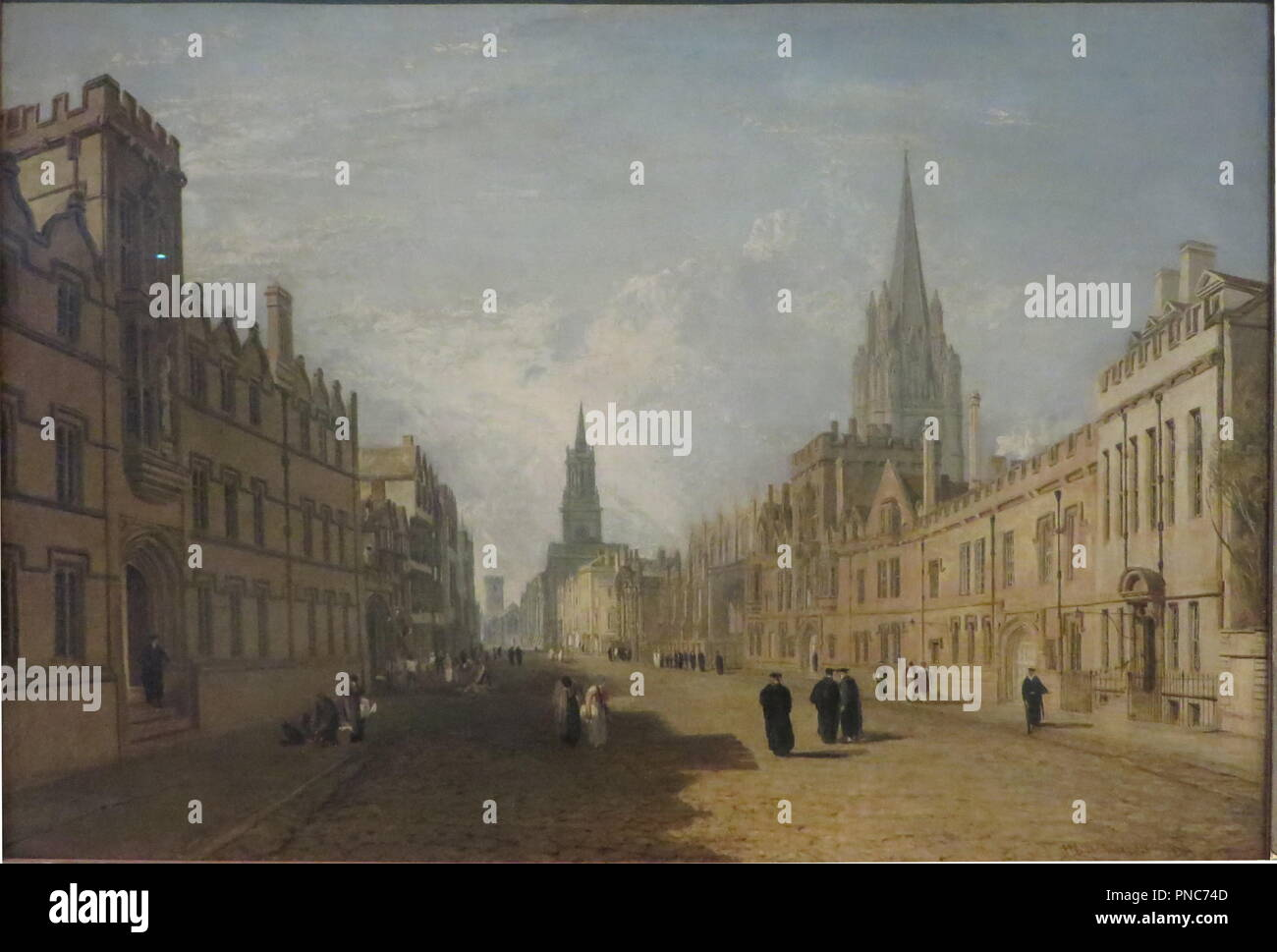 High Street, Oxford. Painting. Canvas and oil. Height: 68.5 cm (26.9 in); Width: 100.3 cm (39.4 in). Author: J. M. W. Turner. - Stock Image
