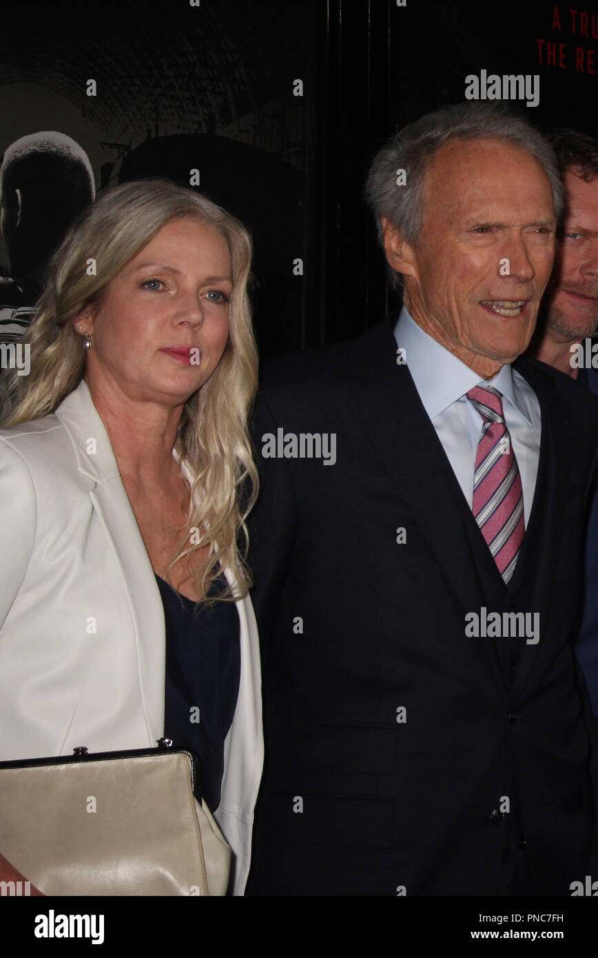 """Christina Sandera, Clint Eastwood  02/05/2018 The World Premiere of """"The 15:17 to Paris"""" held at The SJR Theater at Warner Bros. Studios in Burbank, CA Photo by Izumi Hasegawa / HNW / PictureLux Stock Photo"""