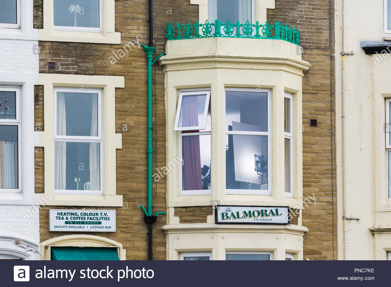 The Balmoral Hotel Guest House in Marine Road West, used as a film location for the ITV crime drame 'The Bay' - Stock Image