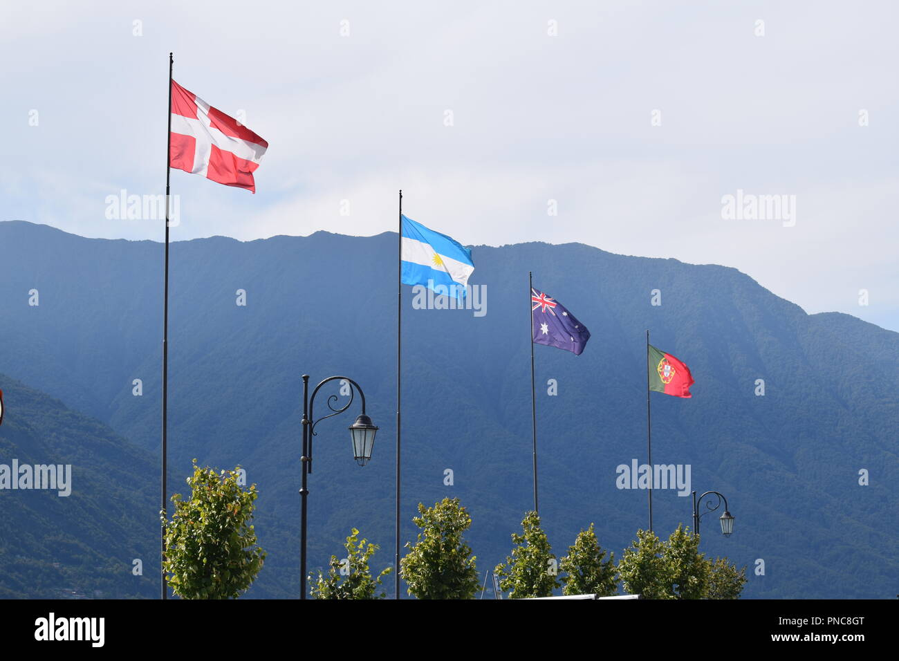 flages lakeside in lake como italy stock photo 219702360 alamy
