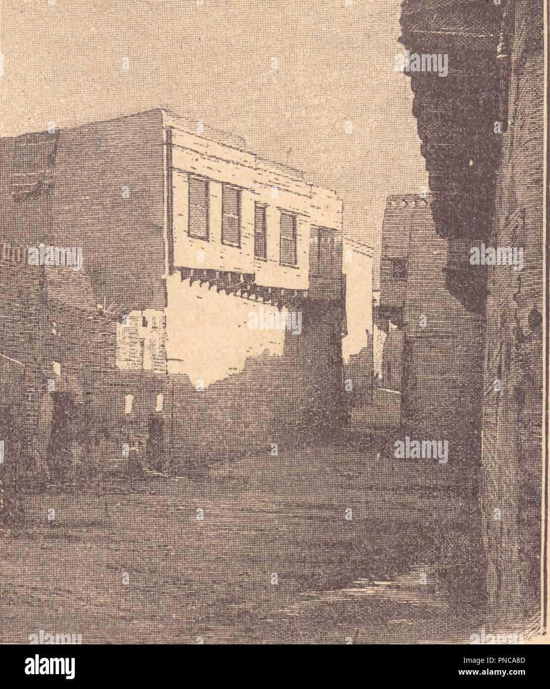 maison égyptienne - Stock Image