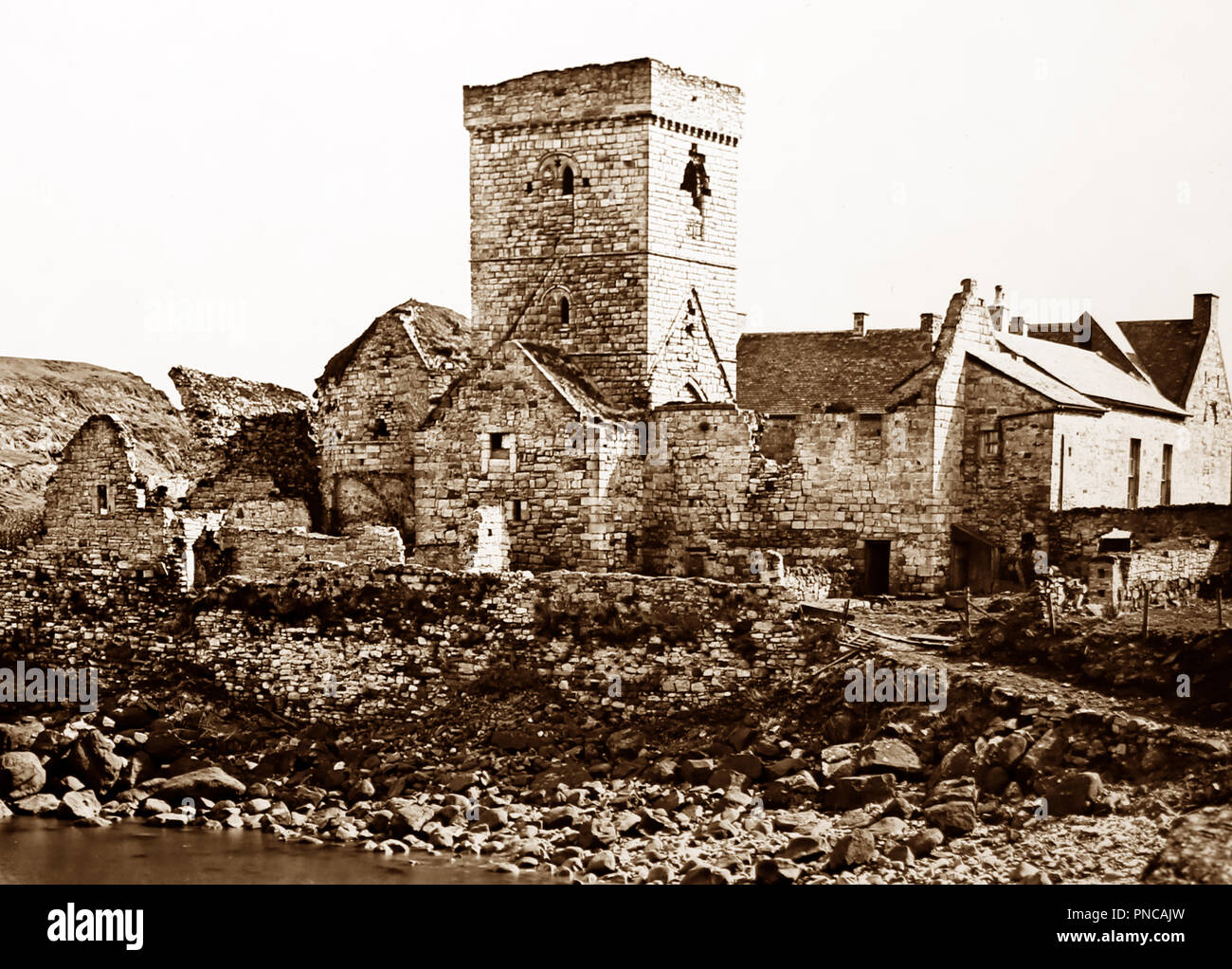 Inchcolm, Firth of Forth, Victorian period - Stock Image