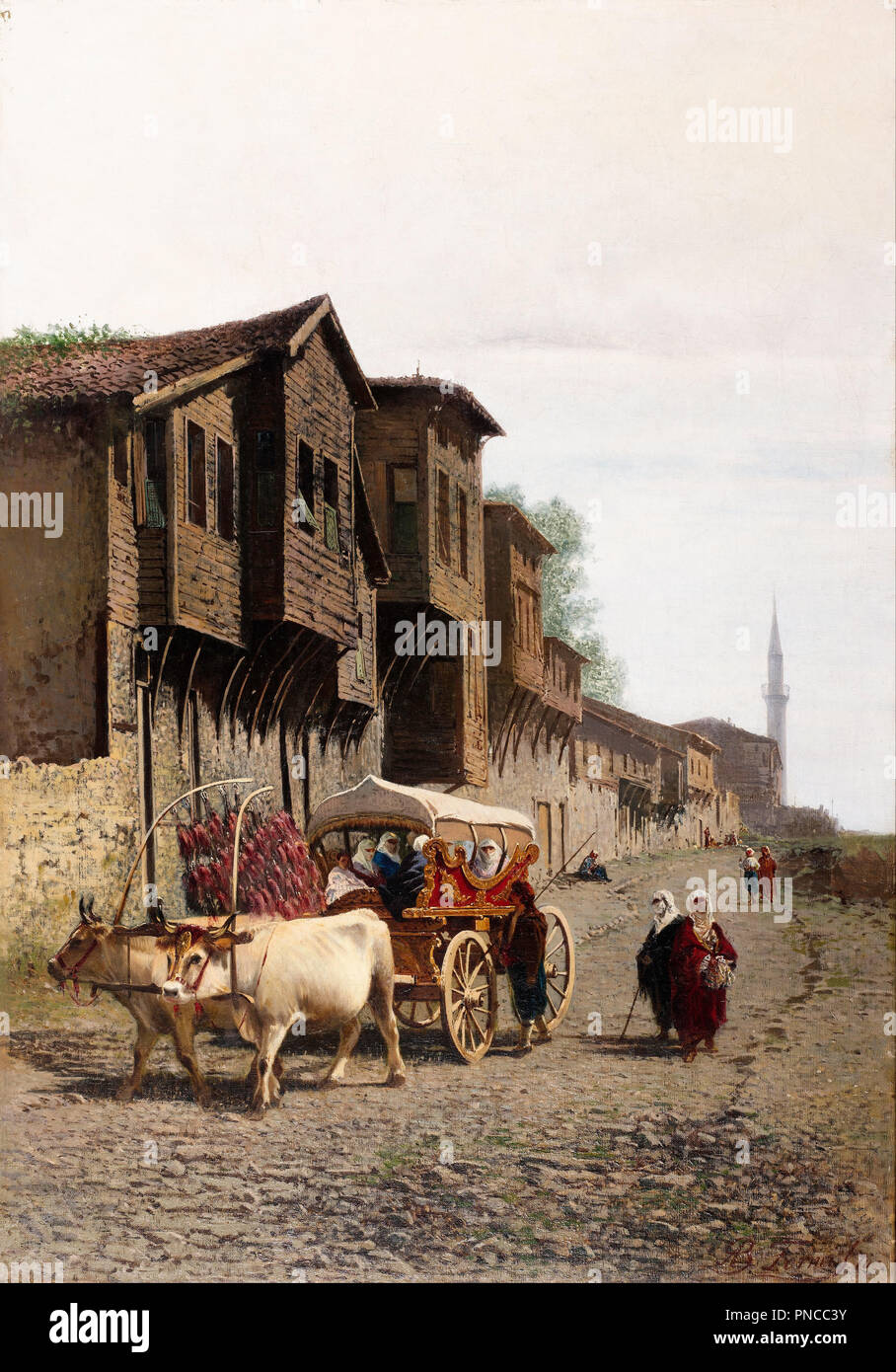 "The ""Koçu"" Cart. Date/Period: Second half of the 19th century. Painting. Oil on canvas. Height: 1,000 mm (39.37 in); Width: 700 mm (27.55 in). Author: Achille Befani Formis. Formis (Befani), Achille. Stock Photo"