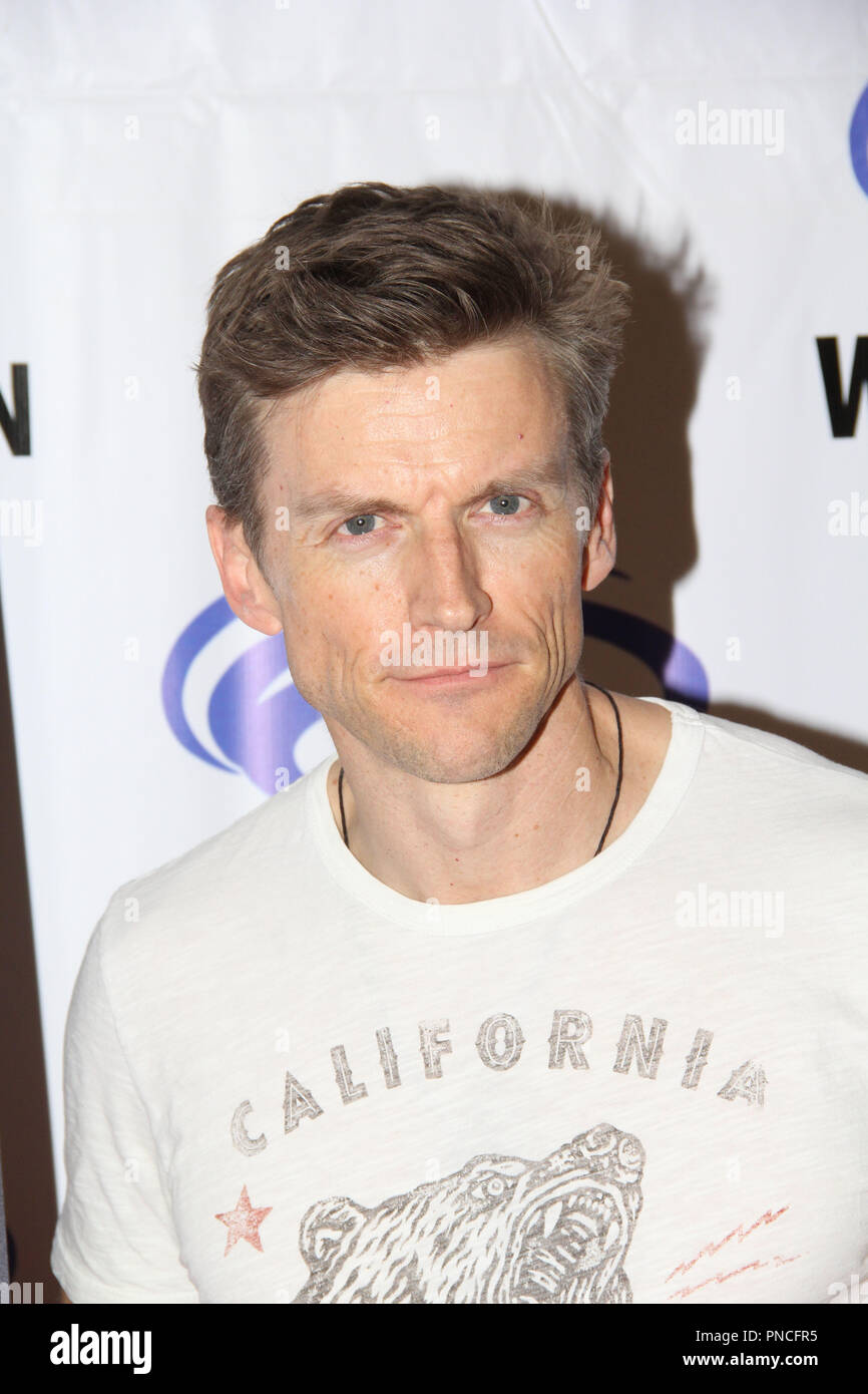 Gideon Emery promoting DC's Suicide Squad Hell To Pay at  Day 1 of WonderCon Anaheim 2018. Held at the Anaheim Convention Center in Anaheim, CA. March 23 2018. Photo by: Richard Chavez / PictureLux Stock Photo