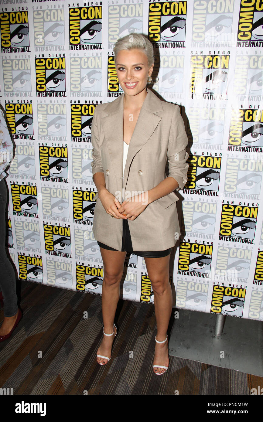 Wallis Day promoting the second season of 'Krypton' At San Diego Comic Con International 2018. Held at the Hilton Bay Front in San Diego, CA. July 21, 2018. Photo by: Richard Chavez / PictureLux - Stock Image