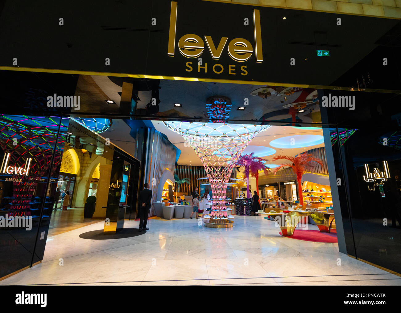 Level Shoes luxury shoe department in