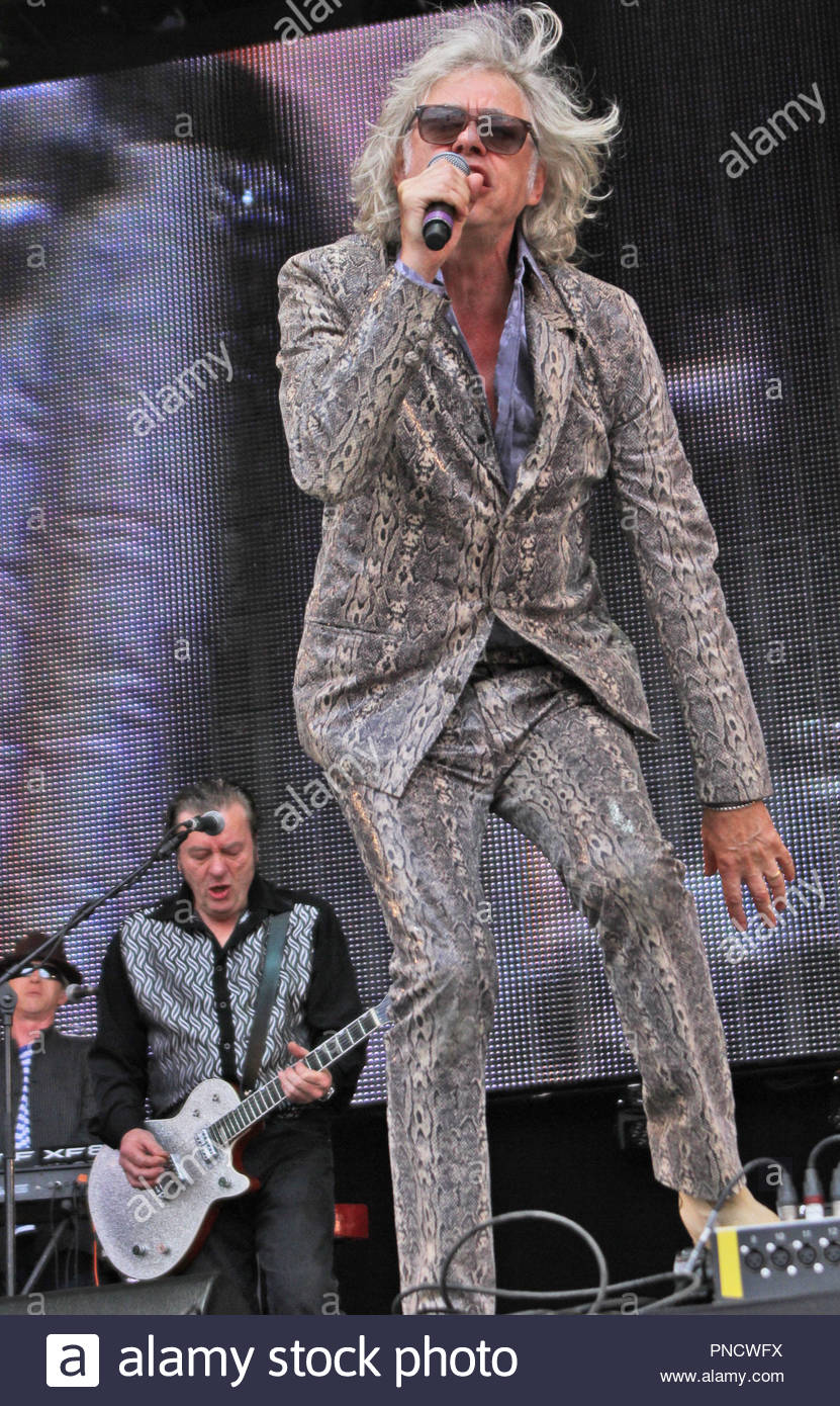 Bob Gelgod at rewind north at capesthorne hall, siddington, cheshire on sunday 09 August 2015 - Stock Image