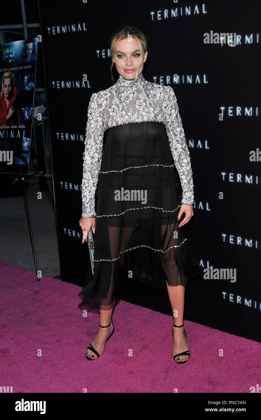Margot Robbie at the 'Terminal' Premiere held at the ArcLight Hollywood in Los Angeles, CA on Tuesday, May 8, 2018. Photo by PRPP/ PictureLux  File Reference # 33590_002PRPP01  For Editorial Use Only -  All Rights Reserved - Stock Image