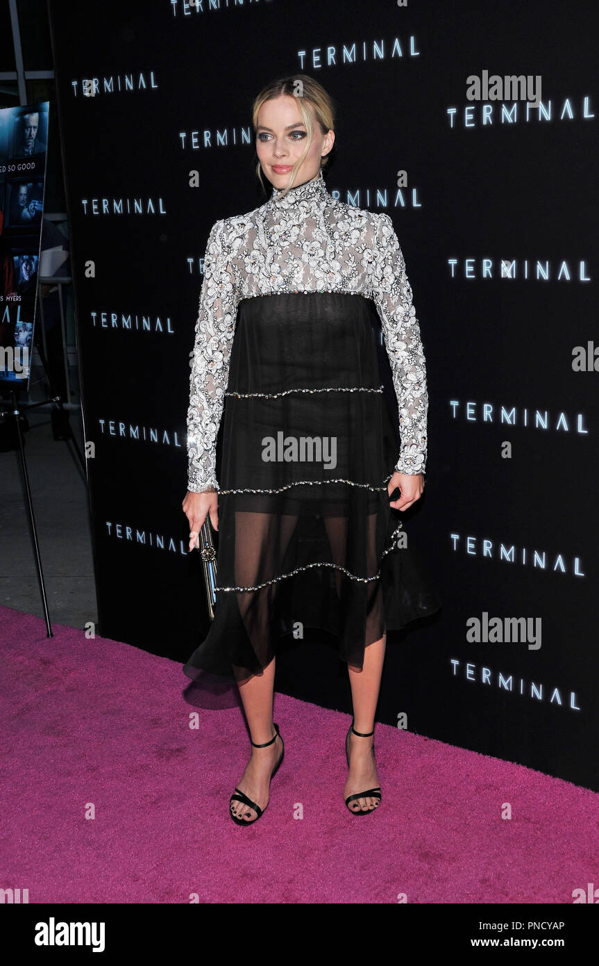 Margot Robbie at the 'Terminal' Premiere held at the ArcLight Hollywood in Los Angeles, CA on Tuesday, May 8, 2018. Photo by PRPP/ PictureLux  File Reference # 33590_003PRPP01  For Editorial Use Only -  All Rights Reserved - Stock Image
