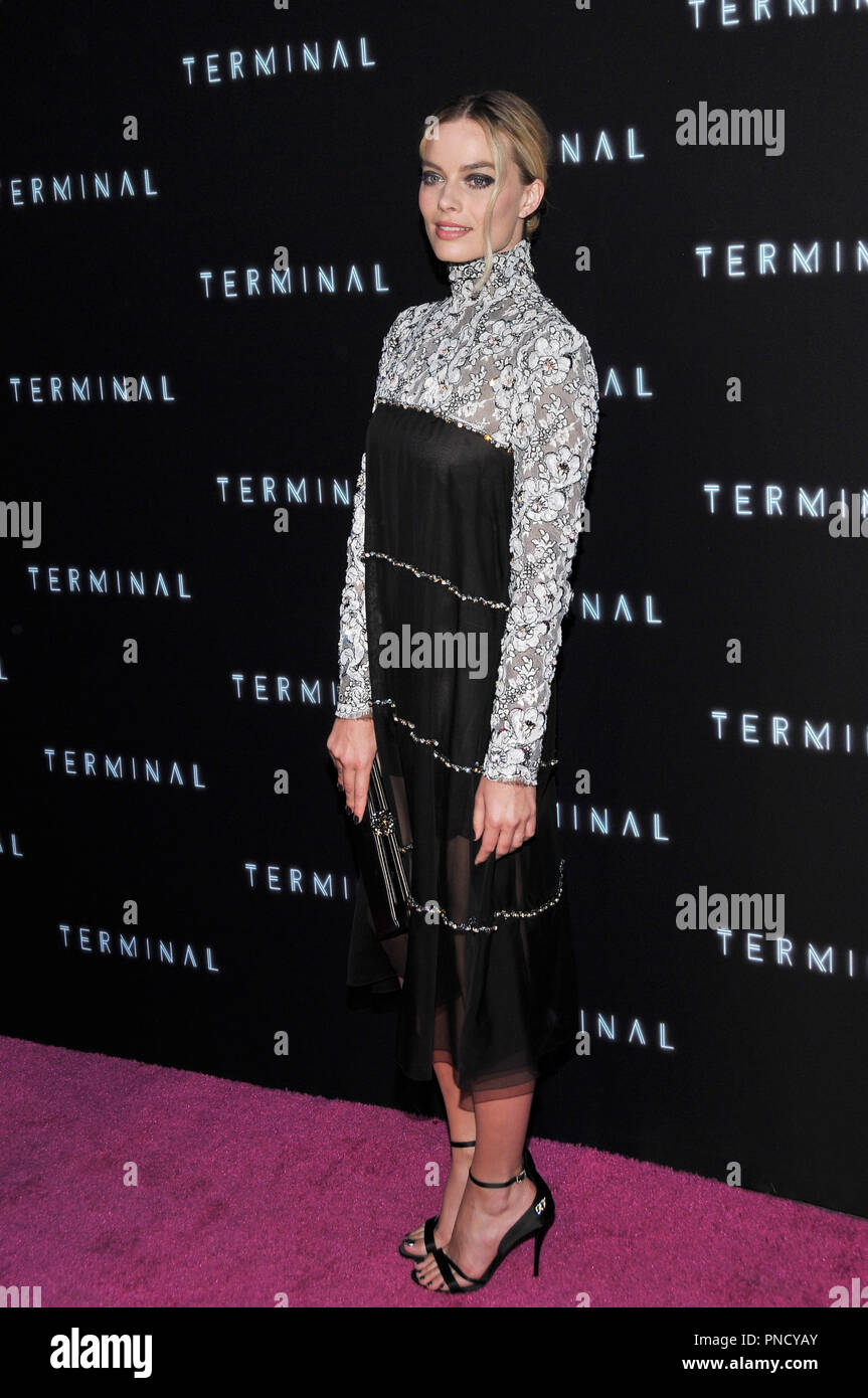 Margot Robbie at the 'Terminal' Premiere held at the ArcLight Hollywood in Los Angeles, CA on Tuesday, May 8, 2018. Photo by PRPP/ PictureLux  File Reference # 33590_006PRPP01  For Editorial Use Only -  All Rights Reserved - Stock Image