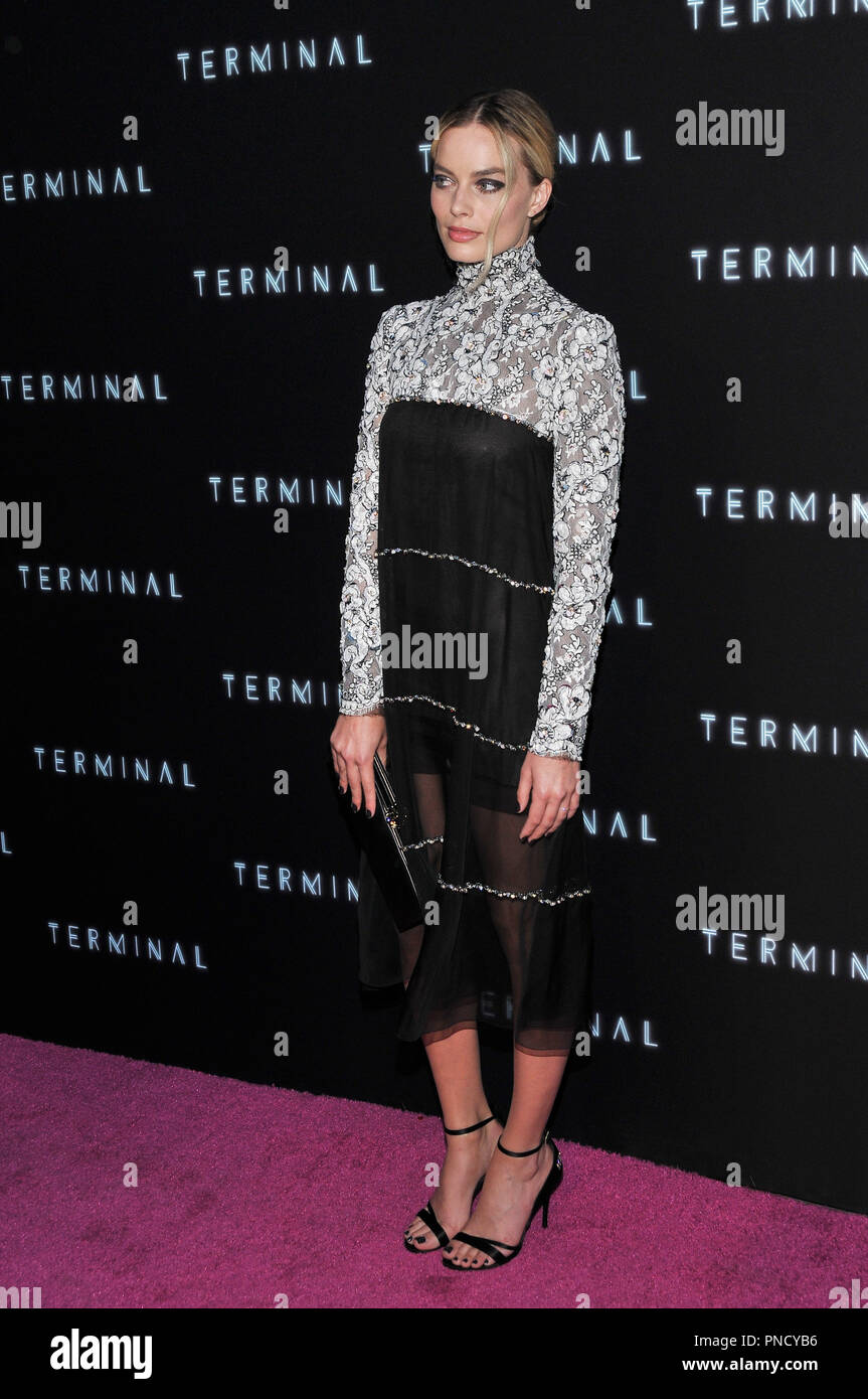 Margot Robbie at the 'Terminal' Premiere held at the ArcLight Hollywood in Los Angeles, CA on Tuesday, May 8, 2018. Photo by PRPP/ PictureLux  File Reference # 33590_008PRPP01  For Editorial Use Only -  All Rights Reserved - Stock Image
