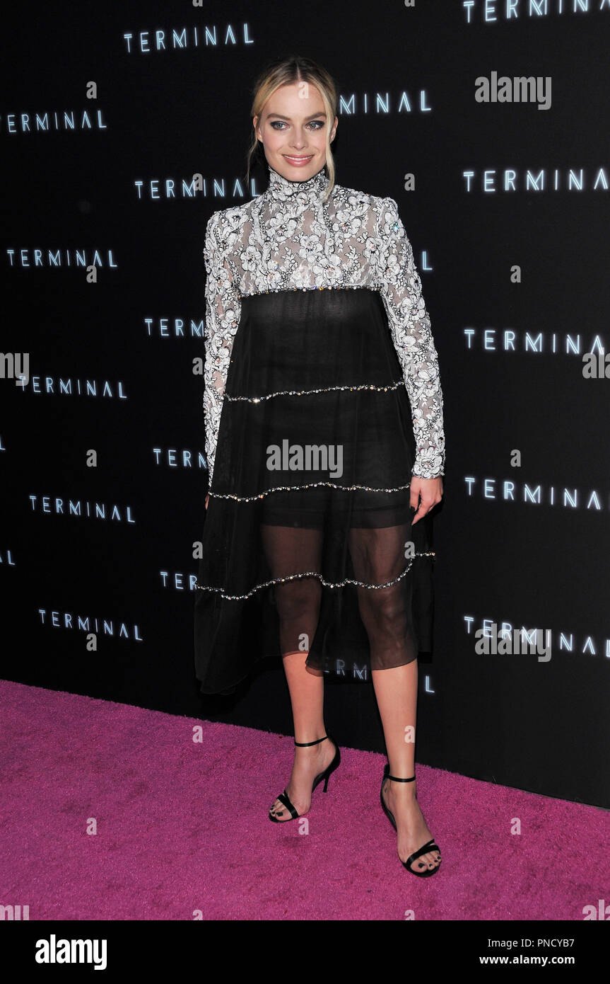 Margot Robbie at the 'Terminal' Premiere held at the ArcLight Hollywood in Los Angeles, CA on Tuesday, May 8, 2018. Photo by PRPP/ PictureLux  File Reference # 33590_009PRPP01  For Editorial Use Only -  All Rights Reserved - Stock Image