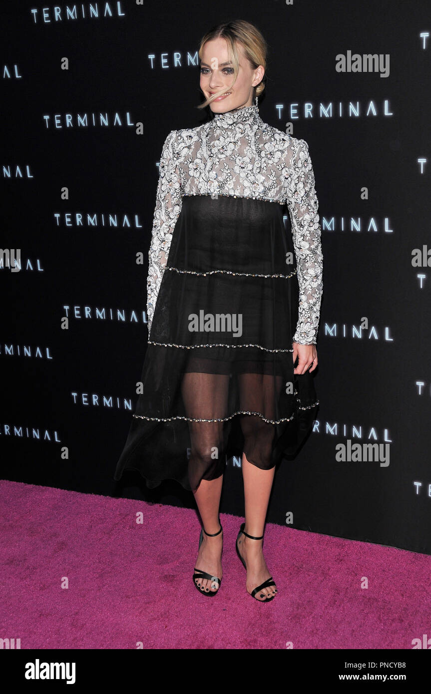 Margot Robbie at the 'Terminal' Premiere held at the ArcLight Hollywood in Los Angeles, CA on Tuesday, May 8, 2018. Photo by PRPP/ PictureLux  File Reference # 33590_010PRPP01  For Editorial Use Only -  All Rights Reserved - Stock Image