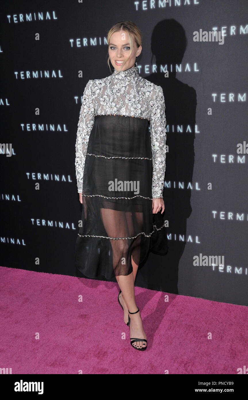 Margot Robbie at the 'Terminal' Premiere held at the ArcLight Hollywood in Los Angeles, CA on Tuesday, May 8, 2018. Photo by PRPP/ PictureLux  File Reference # 33590_011PRPP01  For Editorial Use Only -  All Rights Reserved - Stock Image