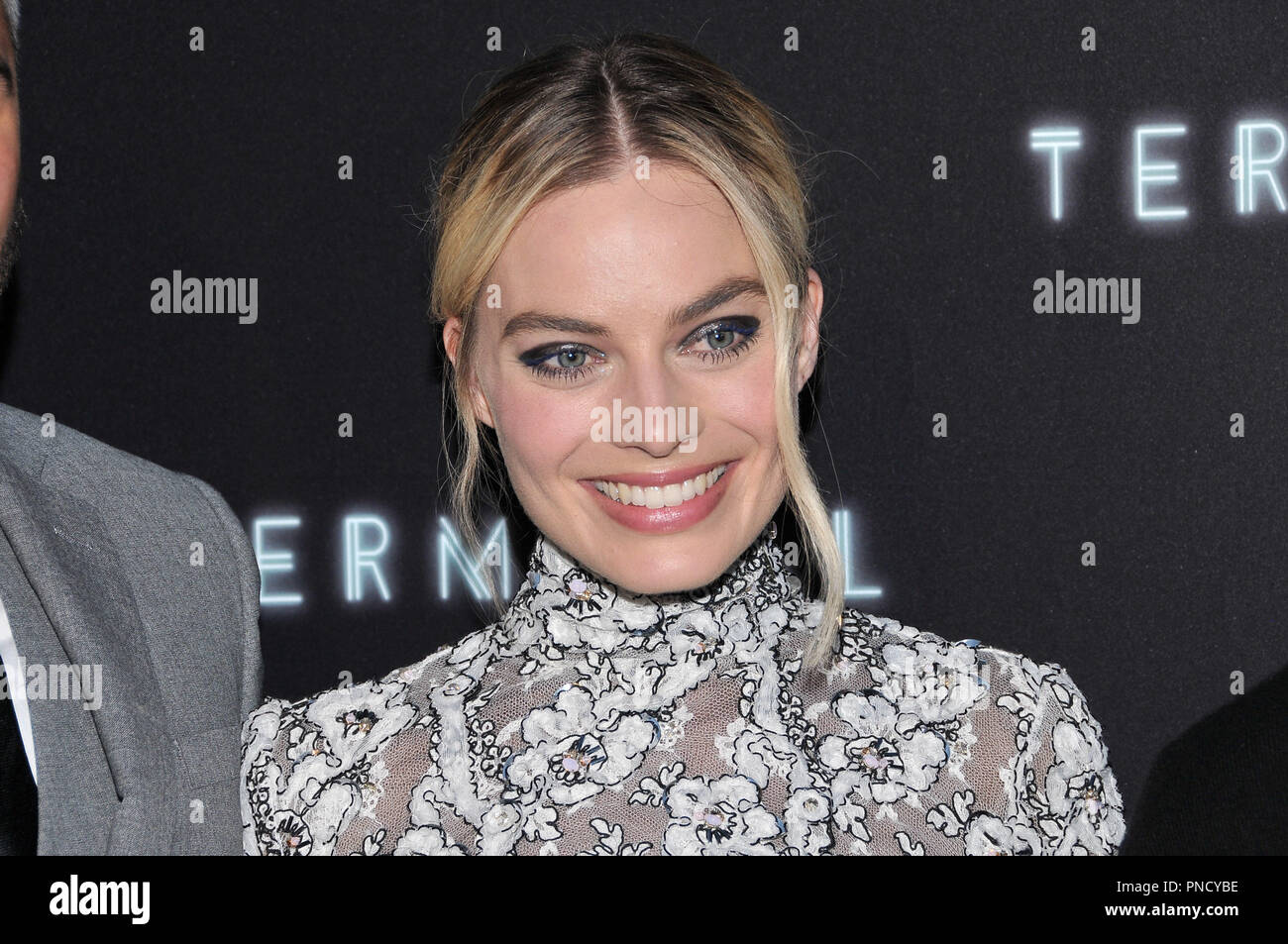 Margot Robbie at the 'Terminal' Premiere held at the ArcLight Hollywood in Los Angeles, CA on Tuesday, May 8, 2018. Photo by PRPP/ PictureLux  File Reference # 33590_015PRPP01  For Editorial Use Only -  All Rights Reserved - Stock Image