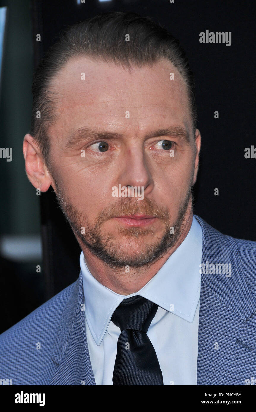 Simon Pegg at the 'Terminal' Premiere held at the ArcLight Hollywood in Los Angeles, CA on Tuesday, May 8, 2018. Photo by PRPP/ PictureLux  File Reference # 33590_022PRPP01  For Editorial Use Only -  All Rights Reserved - Stock Image