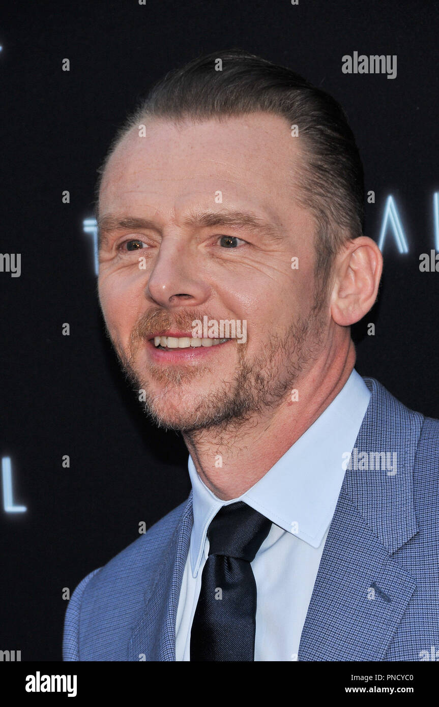 Simon Pegg at the 'Terminal' Premiere held at the ArcLight Hollywood in Los Angeles, CA on Tuesday, May 8, 2018. Photo by PRPP/ PictureLux  File Reference # 33590_023PRPP01  For Editorial Use Only -  All Rights Reserved - Stock Image