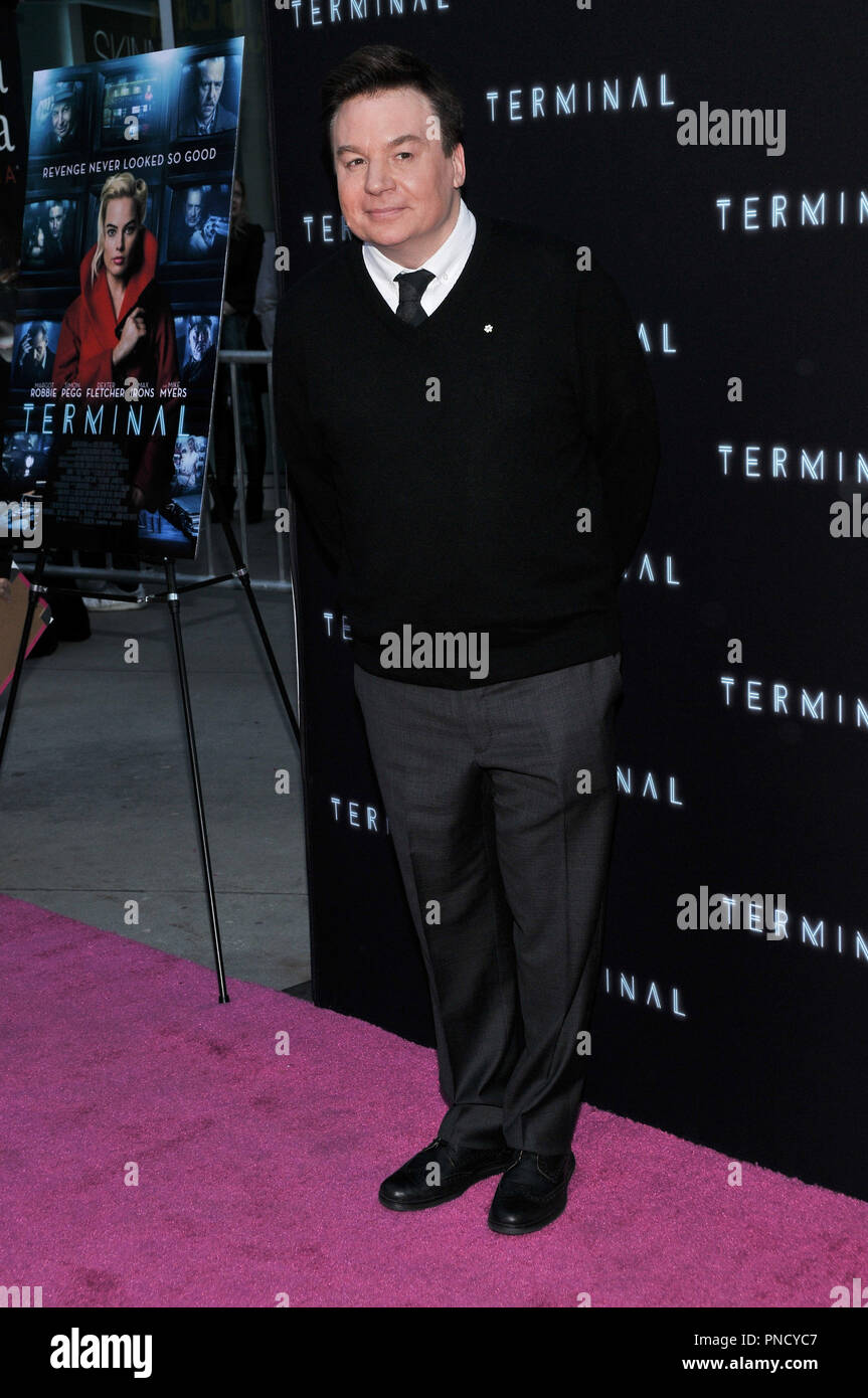 Mike Myers at the 'Terminal' Premiere held at the ArcLight Hollywood in Los Angeles, CA on Tuesday, May 8, 2018. Photo by PRPP/ PictureLux  File Reference # 33590_029PRPP01  For Editorial Use Only -  All Rights Reserved - Stock Image